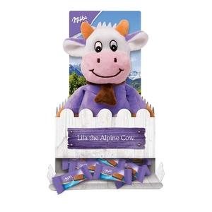 Milka Chocolate Lila the Alpine Cow Soft Plush Toy & 15 chocolate bars only £2 @ Heron Foods