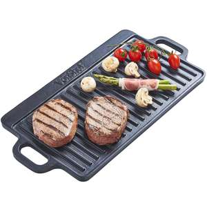 VonShef Non-Stick Cast Iron Reversible Griddle Pan Plate £9.74 at Amazon Sold by DOMU UK
