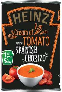 Heinz Cream of Tomato Soup with Spanish Chorizo 400 ml Found @ Poundstretcher Instore @ (Great Yarmouth Town Centre) £0.50