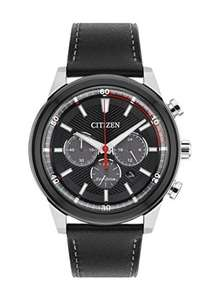 Citizen Watch Men's Solar Powered with Black Dial Analogue Display now £74.40 delivered at Amazon