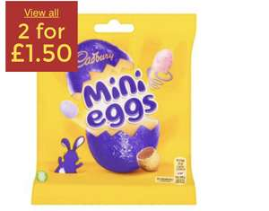 Mini Eggs and Bags 2 For £1.50 in Asda