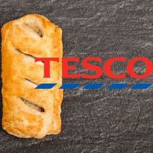 Now instores - Tesco Launches Fresh Baked Vegan Sausage Roll - 75p Ready to Eat from instore Bakery