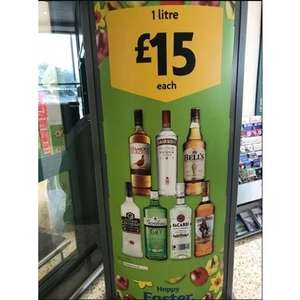 Selection of 1L Spirits £15 in Morrisons instore (Famous Grouse, Smirnoff, Bells, Russian Standard, Gordon's, Barcardi, Captain Morgan)