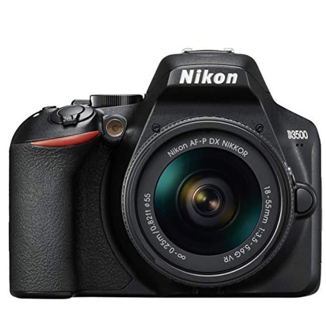Nikon D3500 + AF-P DX 18–55 VR Kit - Black  £349 Amazon