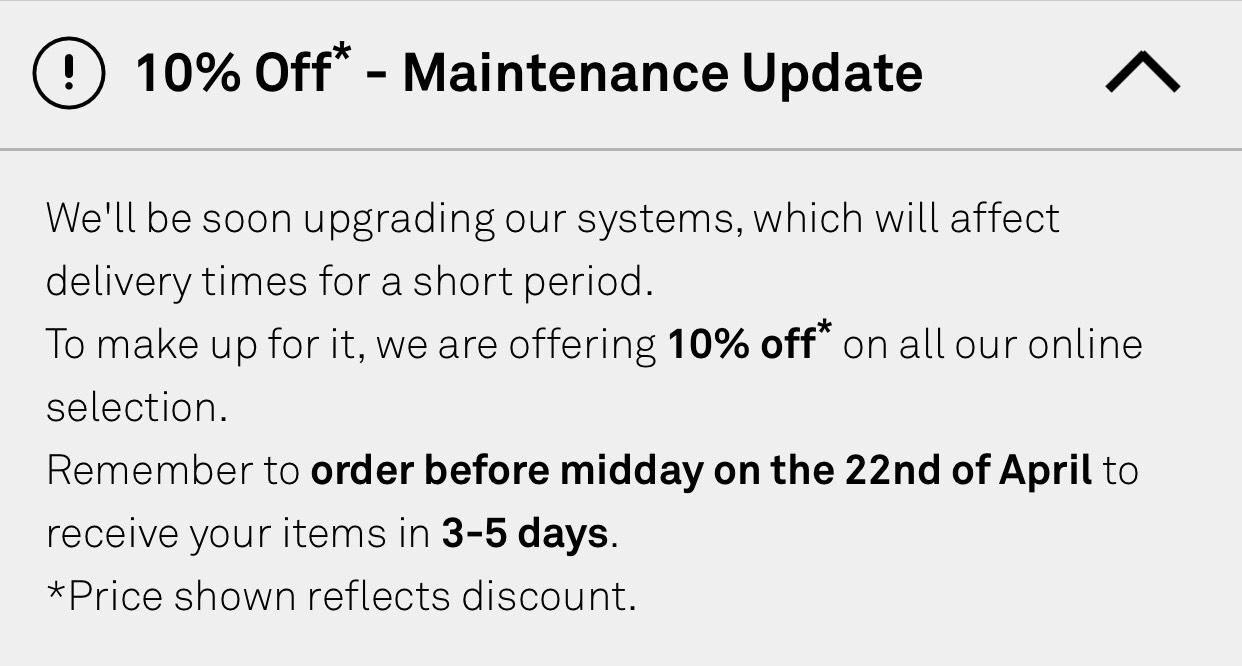 Napapijri are giving  10% off online until midday 22nd April
