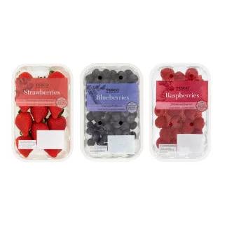 Strawberries 400g / Blueberries 250g / Raspberries 150g - Any 2 for £3 @ Tesco (from 17/04)