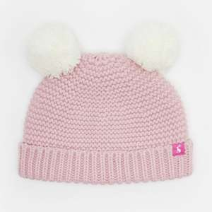 Joules Baby 125026 Knitted Hat in ROSE PINK - £3.95 @ eBay / Joules
