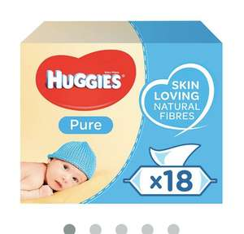 Huggies Pure Baby wipes - £10 (55p per pack or 38p on bulk buy with code) - new customers @ Ocado