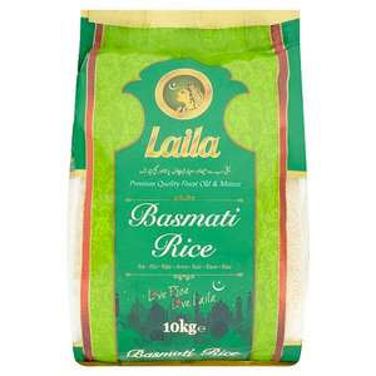 Laila Basmati Rice 10 kg, was £18.50, now £10 @ Asda