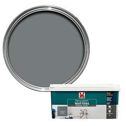 Peachy V33 Bathroom Kitchen 2 Litre Tile Paint At Bq For 12 Home Interior And Landscaping Spoatsignezvosmurscom