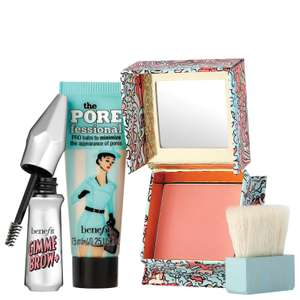 BENIFIT Fortune, Fun, Favorites! Primer, Blush & Brow Gel Trio + FREE Del £21.20 Look Fantastic