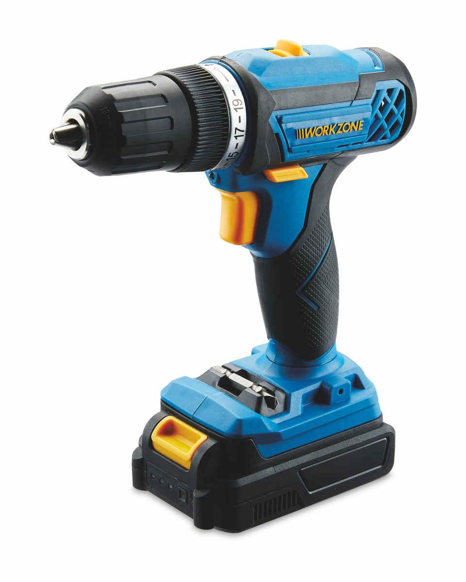 Workzone 20v lithium-ion  cordless drill  £19.99 Aldi instore