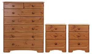 Argos Home Nordic 2 Bedsides & 5+2 Drawer Package (Pine/white) £179.97 @ Argos