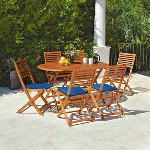 Argos Newbury 6 seater wooden patio set £119.99 Argos