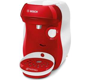 TASSIMO by Bosch Happy TAS1006GB Coffee Machine - Red & White With free gift £39.99 Currys