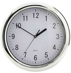 Bold Easy to Read Argos Home Chrome Wall Clock (20% off on Clocks OP for info)-£5.99 + Free C&C @ Argos - Easter Offer