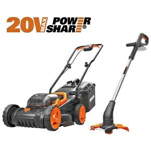 Worx WG927E  cordless lawnmower and strimmer Set £160 plus receive a £10 Voucher at Argos