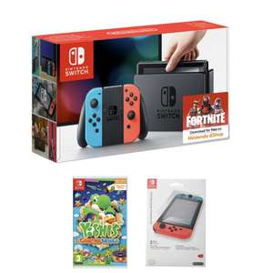 Nintendo Switch Neon Console + Yoshi's Crafted World and Screen protector £289.99 @ Game