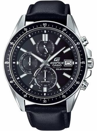 Casio edifice Black leather Sapphire Mens Watch £79.99 TK MAxx instore.