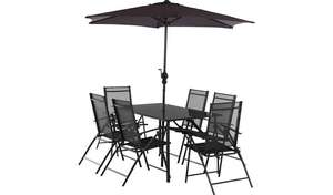 8c6bcd80b4149 Home Milan 6 seater metal patio set inc table