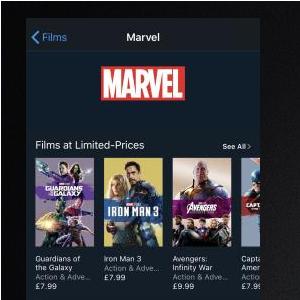 Marvel Movies - £7.99 on iTunes