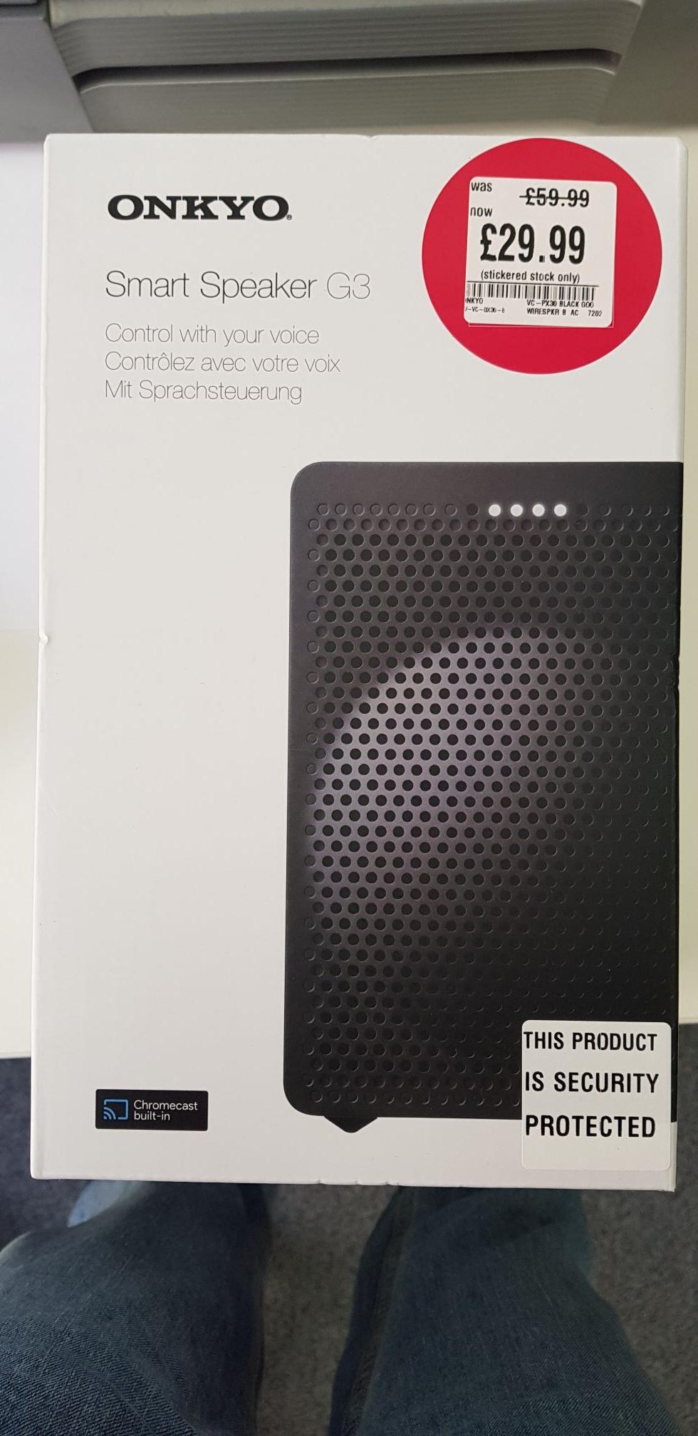 Onkyo G3 Smart Speaker In-Store @ HMV for £29.99