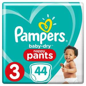 Pampers Nappies up to 50% roll back at ASDA - From £3.75 (Pampers Baby-Dry Size 3)