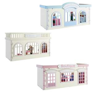 Chad Valley Wooden Boutique / Cafe £6.99 each OR Supermarket for £7 @ Argos - Free C&C [ Comes with accessories and dolls - All 3 £20.98]