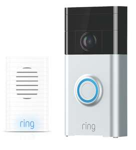 Ring Video Doorbell V1 Satin Nickel + Ring Wireless Door Chime £99 Free delviery or C&C @ Screwfix