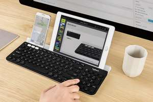 Logitech K780 keyboard to connect 3 Devices via Wireless USB and Bluetooth for Mac, iOS, Windows devices. £40.99 @ Amazon