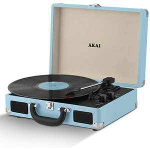 1b30061c9e7 Akai Rechargeable Briefcase Turntable With Built-in Speakers Only £24.99 @  IWOOT