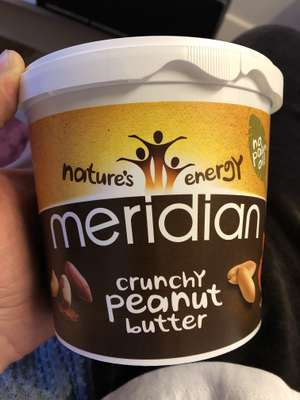 Meridian crunchy peanut butter 1kg instore at Aldi for £4.99