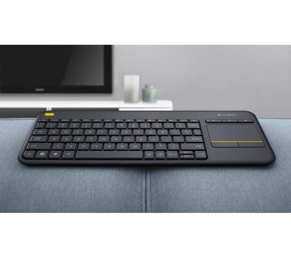 LOGITECH K400 Plus Wireless Keyboard - Dark Grey- £16.49 delivered @ Currys (+2 years guarantee)