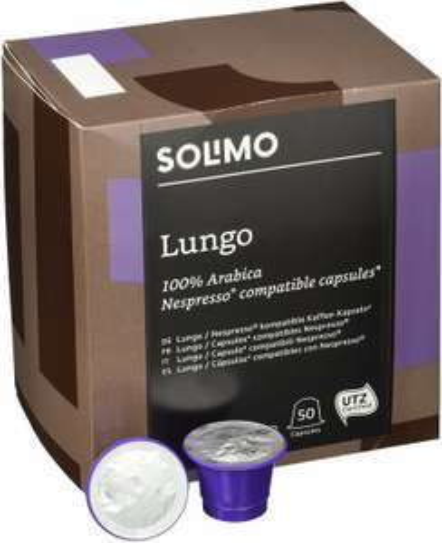 Amazon Brand Solimo Nespresso compatible capsules 100 Lungo £7.84 (Prime) / £12.33 (non Prime) at Amazon