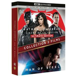 BATMAN VS SUPERMAN 4K + MAN OF STEEL 4K BOXSET which include Blu-Rays & Digital Copies. £17.15 Delivered @ Amazon France
