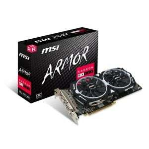 MSI AMD Radeon RX 580 8GB ARMOR 8G OC Graphics Card, £163.29 at Ebuyer/eBay with code