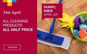ALL cleaning product half price includes Hg products at Homestore and more (+£4.99 p&p)