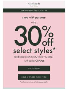 Kate Spade 30% off