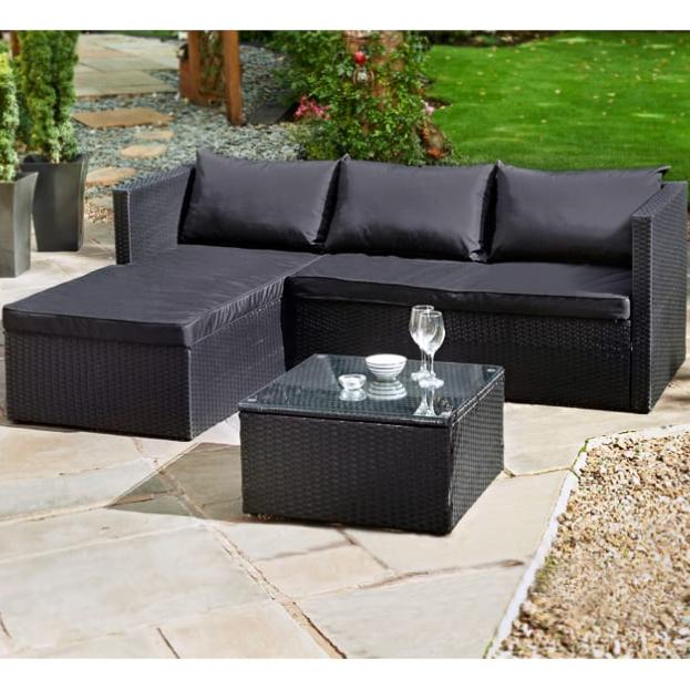 B&M Rattan Corner Sofa £200 @ B&M Retail