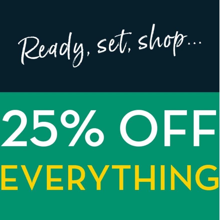 25% off everything on Crew Clothing + Free C&C