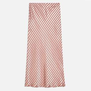 Stripe Satin Midi Slip Skirt (was 35) Now £20 + 20% Off Everything with code  incl. up to 70% off sale + Free Delivery @ Topshop