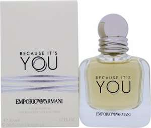 Giorgio Armani Because It's You Eau de Parfum 50ml Spray 37.45 + 1.95 delivery @ perfumeclick
