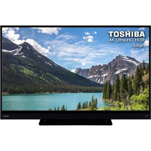 "Toshiba 43T6863DB 43"" Smart 4K Ultra HD TV with HDR and Freeview Play at ebay/ao for £224.10"