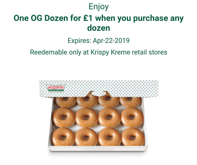 Krispy Kreme Offer - Original Glazed for £1 when you buy another dozen