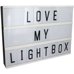 A4 LED Cinema Light Box with 90 Characters was £10 now £5 C+C (Free Del on £10+ with code) @ The Works