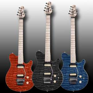 Sterling By Music Man Sub AX4 Electric Guitar £229 Delivered @ Dawsons [Blue / Black / Red]