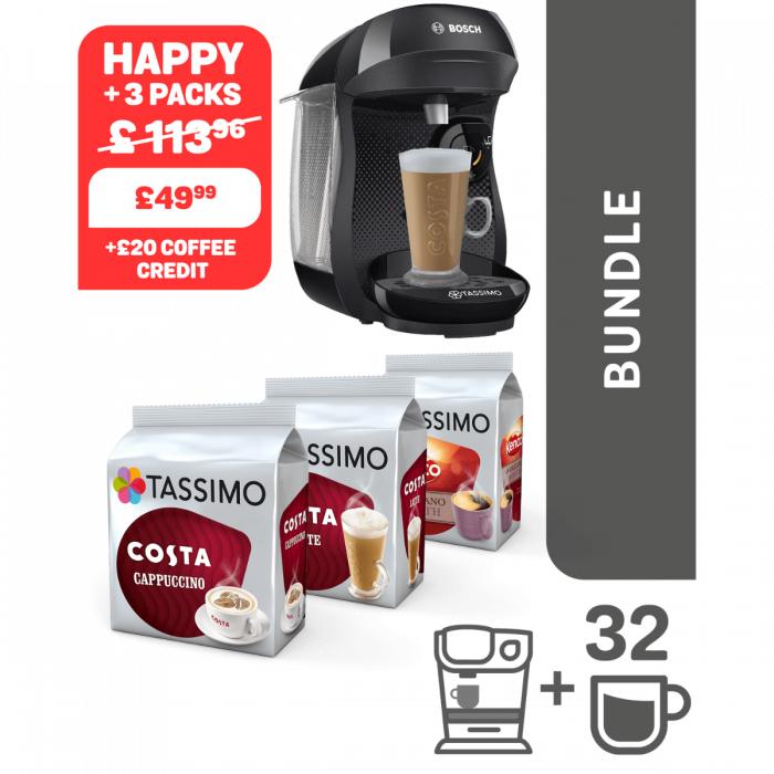 Tassimo machine plus 3 packs of pods £49.99  @ Tassimo