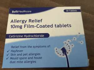 10mg Centrizine Hydrochloride (Antihistamine) One a Day tablets - 30 in a pack - £1 in Poundland (Saving £3-5 on big brands!)