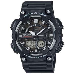 Casio Mens Watch with World Time - Blue Resin Strap, £18.99  at MyMemory