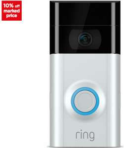 RING Video Doorbell V2 FOR £124.20 (With Chime pro WiFi £147.10) (See OP for other 10% Off RING Products) with code Delivered @ Currys